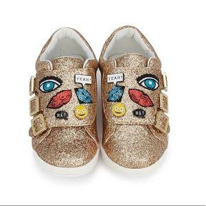 NWT Sam Edelman Liv Wendy Gold Glitter Sneakers 2
